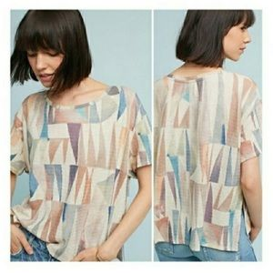 Anthropologie Postmark Abstract Triangle T-shirt